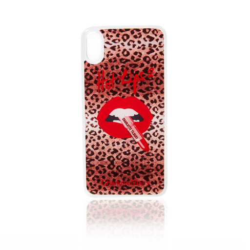 Hot Lips 2 Merchandise iPhone XS Case In Rose Gold Leopard
