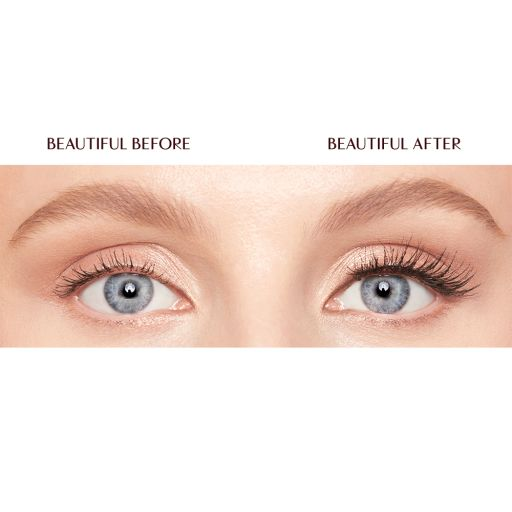 Natural chic Eyelashes model before and after