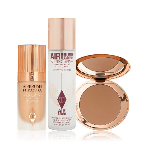 The Famous Airbrush Flawless Routine with Airbrush Bronzer, Setting Spray and Airbrush Flawless Foundation