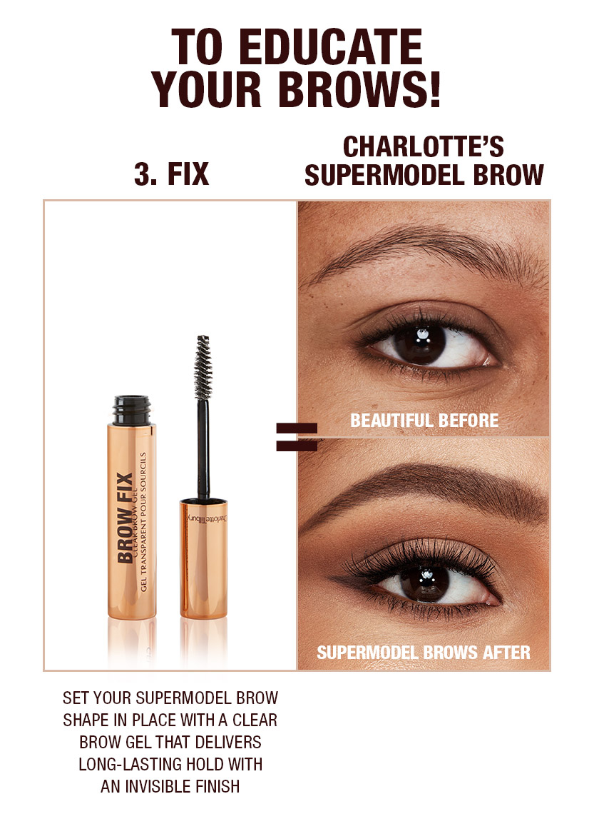 Supermodel brows 3 step routine Dark Brown