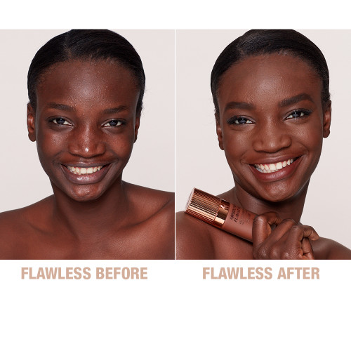 Airbrush Flawless Foundation 16 Cool Before and After