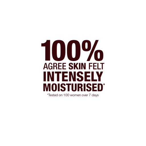 100% Agree Skin Felt Intensely Moisturised * Tested on 100 women over 7 days