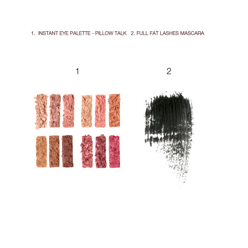 Pillow Talk Dreamy Eyeshadow Mascara set Swatches