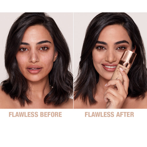 Airbrush Flawless Foundation 7 neutral before and after