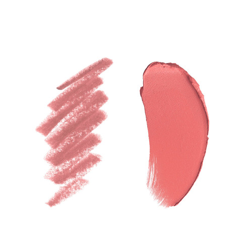 Pillow Talk travel size lipstick and lip liner Swatch