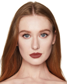 Charlotte Tilbury Matte Revolution Birkin Brown Lipstick Lips Model