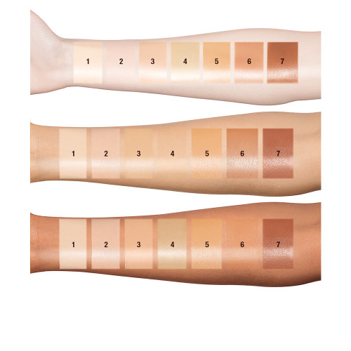 HOLLYWOOD FLAWLESS FILTER ARM SWATCHES