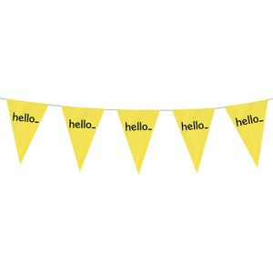 Bunting flags personalisation