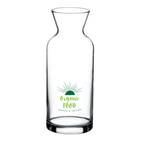 A 1 litre glass jug available at Helloprint with personalised printing solutions for a cheap price