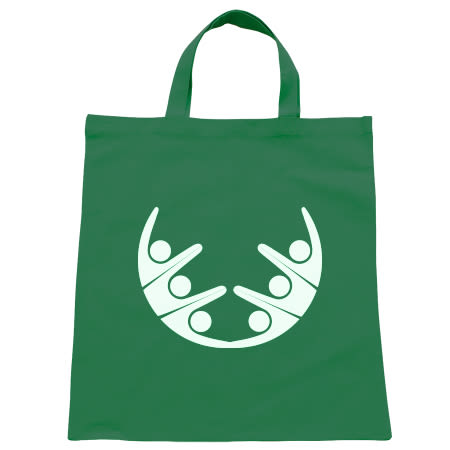 Super handy tote shopping bags with full colour printed personal logo or image, available at Helloprint