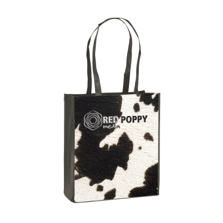 Cheap and sturdy shopping bag with long straps. At Helloprint you can personalise it with your own company logo or design.
