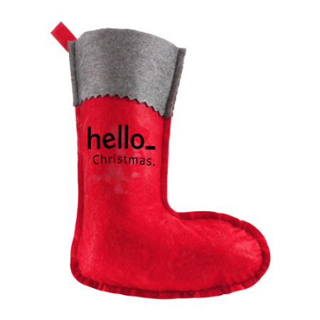 Cheap Christmas stocking which can be personalised with your own logo or text at Helloprint.