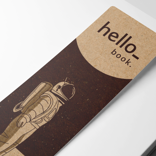 Bookmarks with Kraft Brown paper and a design example from Helloprint