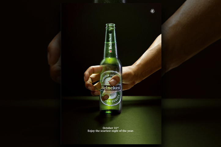 Halloween Hand Heineken marketing campagne