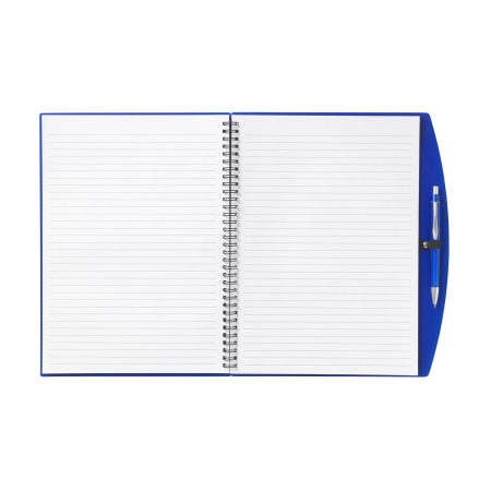 Loose-leaf 4A notebook with pen. Awesome for your colleagues. Produced by Helloprint.