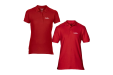 Red Classic fit Polo Shirts male and female from Helloprint