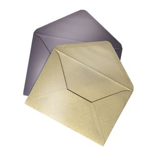 Envelopes Metallic (unprinted) personalisation