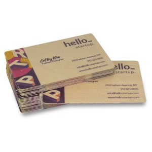Cheap and best wooden business cards with Helloprint. Learn more about our print products and order print online.
