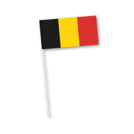 A belgian flag printed on a paper country flag available at Helloprint