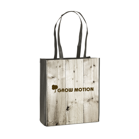 A printed shopping bag available with full colour print at Helloprint with personalised options for a cheap price