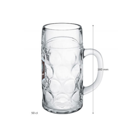 A 50 cl Octoberfest beer mug available at Helloprint with personalised printing options for a cheap price