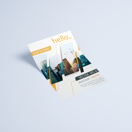 Custom printed pearl marble flyer available at Helloprint