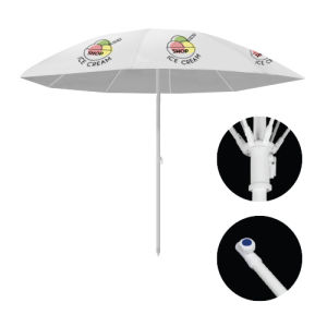 Parasols ronds de face