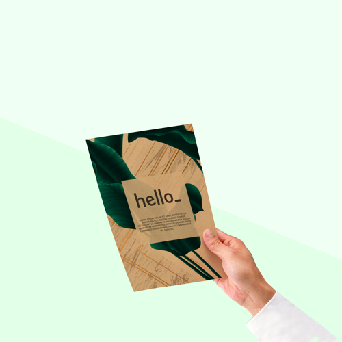 Custom printed flyers on Kraft paper available at Helloprint
