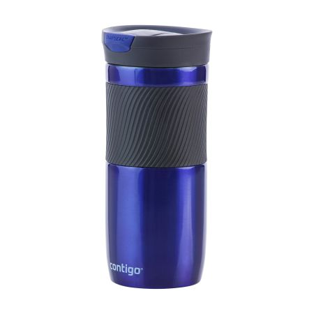 A Dark blue coloured Byron Thermo Bottle available with custom printing solutions at Helloprint