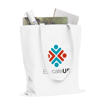 Cheap and sturdy tote bag with long straps. At Helloprint you can personalise it with your own logo or design.