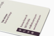 White PVC Business Cards