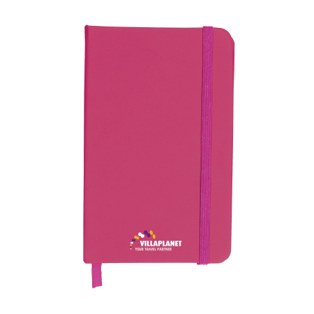 A pink coloured A6 Pocket Notebook available at Drukzo with custom printing options for a cheap price