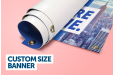 Custom size banners
