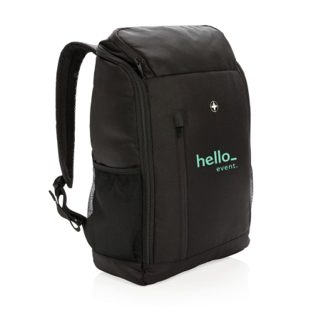 Personalised Premium Business Backpack with a Logo Display Option on the Front, available at Helloprint.