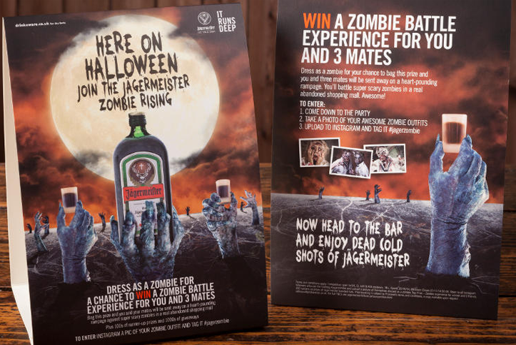 Zombie Battle Jagermeister Halloween marketing campagne