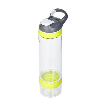 A yellow coloured Contigo Cortland infuser water bottle available with a personalised logo or image printed on the side at Helloprint
