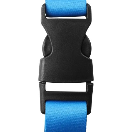A black clip connected to blue straps, print this at Helloprint.