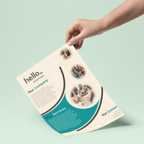 Voorbeeld flyer van milieuvriendelijk papier Helloprint.