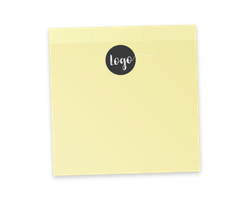 Sticky notes with magnet