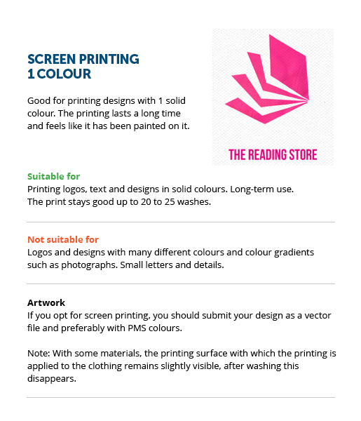 1 colour (screen printing)