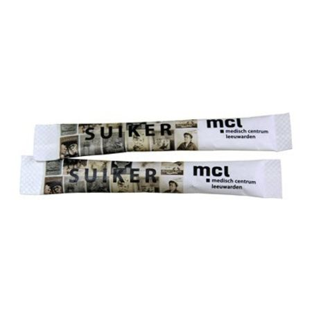 Two sugar sticks available with personalised printing solutions for a cheap price at Helloprint