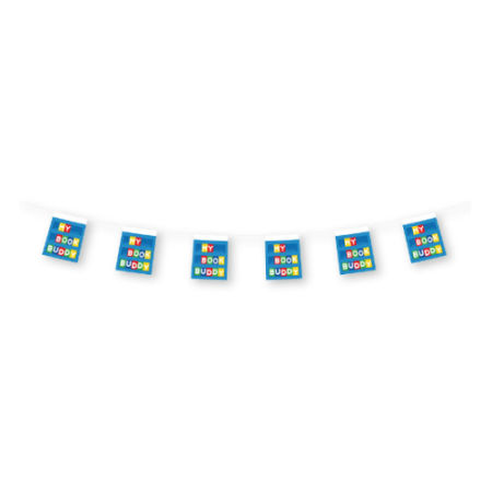 Get your uniquely designed rectangular bunting flags printed at bedrijvenreclame.nl. Cheap and personally made for you.