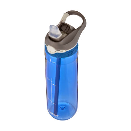 A blue Ashland Water Bottle available at Helloprint with personalised printing options for a cheap price
