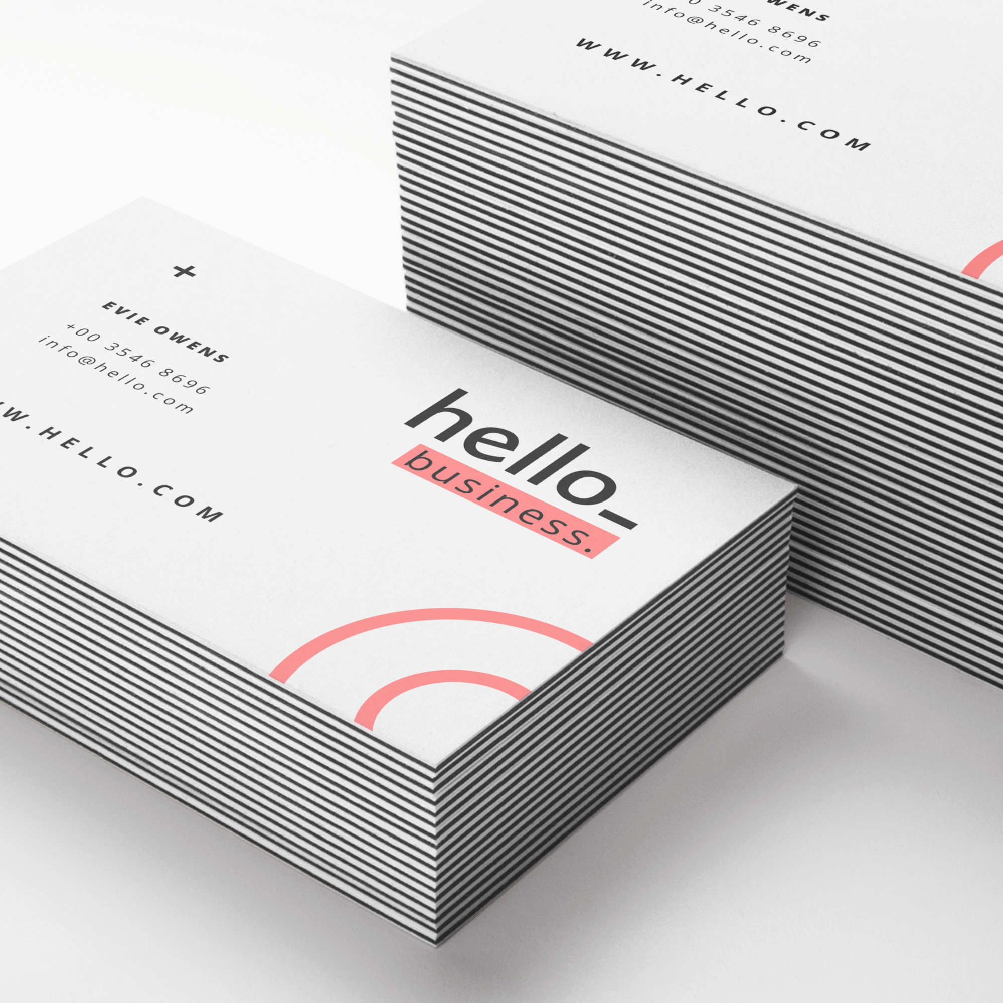 Printed Multilayer business cards for your networking opportunities.