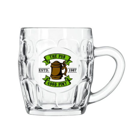 A 55 cl beer mug available with personalised printing solutions for a cheap price at Helloprint