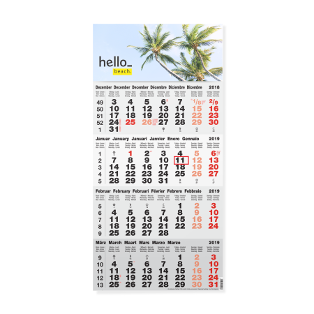 Printed 4-month calendars can be customized with your message, design or photo , ideal for business stationary or promotional gift.
