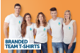 Customize your T-shirts with your own logo and design to complete the professional look for your company.