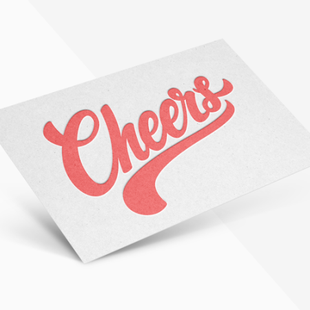 Letterhead cards with unique design