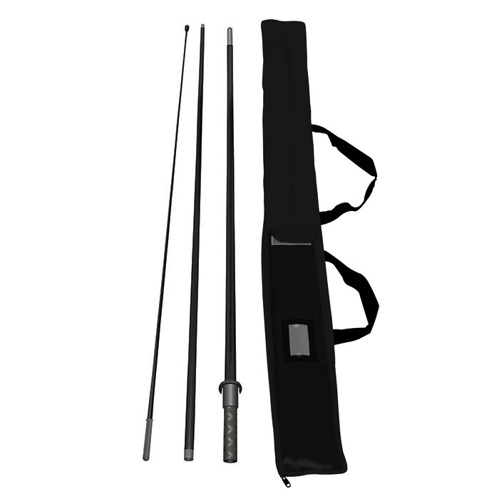 A beach flag pole and bag available at Helloprint for a cheap price