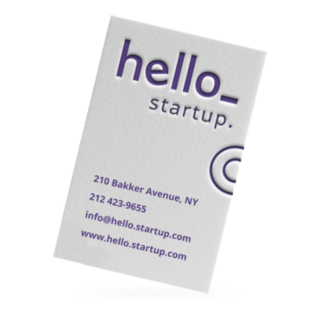 A Cotton Letterpress business card available with custom printing options at cheap prices at Helloprint